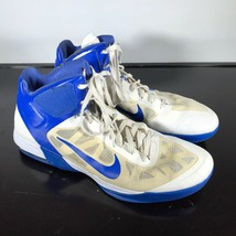Mens NIKE Hyperfuse  Size 16, White/Blue Basketball High Top Sneakers. Used - $16.83