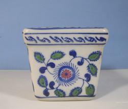 Porcelain flower pot with floral - $28.80