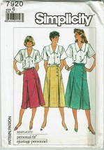 Simplicity 7920 Sewing Pattern Misses Skirts A Line Gored Size 6 UNCUT VTG - $9.74