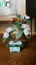 "Vintage Chinese Miniature Tree - Jadeite, Rose Quartz - ""Bonsai Tree"" #2 - $74.25"