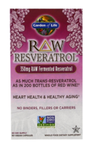RAW Resveratrol 350 mg, 60 Veggie Caps Heart Whole Food Antioxidant Supp... - $46.88