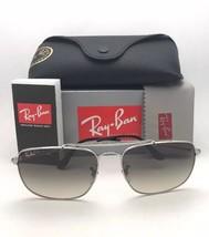 RAY-BAN Sunglasses THE COLONEL RB 3560 003/32 58-17 Silver Aviator w/ Grey Fade image 2