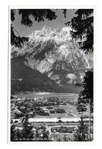 Austria RPPC Telfs in Tirol mit Hohe Munde Mountain K Somweber Glossy Postcard - $6.69