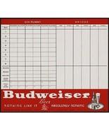 Vintage score sheet BUDWEISER BEER Anheuser Busch Gin Rummy Bridge unused nrmt+ - $7.99