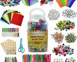 1500 Pieces Craft Supply Set Colorful Fun Assorted Bulk Kit DIY Art Project