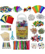 1500 Pieces Craft Supply Set Colorful Fun Assorted Bulk Kit DIY Art Project - $40.00