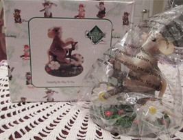 Enesco Charming Tails Petal-ing My Way To You Flower Bicycle 4025767 Mint - $18.00