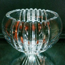 "1 (One) MIKASA PARALLELS Cut Lead Crystal Bowl 7"" – Over 7 Lbs! DISCONTI... - $27.07"