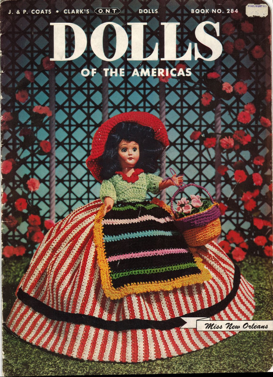 "Vtg 1952 8"" 11"" Americas State Dolls Costume Clothes Georgia Rio Crochet Pattern image 3"