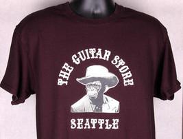 THE GUITAR STORE SEATTLE Shirt-L-Cotton-Sales Repair Music Shop-Monk Wil... - $16.82