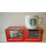 Starbucks 2013 Holiday Collection 2 Coffee Mugs Christmas Mermaid Siren ... - $19.79