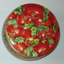Holiday Cachepot Tin with 5 Apple Soaps 1985 NIB Box Wear - $13.99
