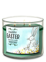 Bath & Body Works Chocolate Bunny Three Wick.14.5 Ounces Scented Candle image 2