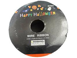 "Momentum Halloween 2.5"" Wire Ribbon, 3 Feet, Green & Black image 2"