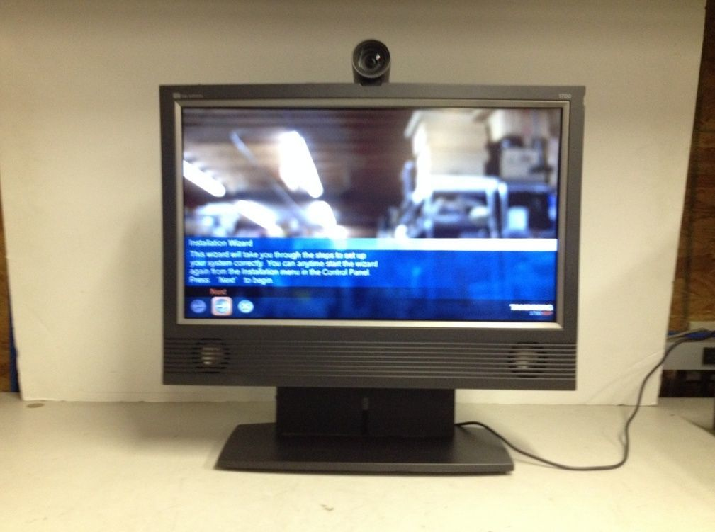 "Tandberg TTC7-15 20"" Video Conferencing System Cracked Plastic No AC Adapter image 1"