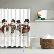 Natal Merry Christmas 125 Shower Curtain Waterproof Polyester Fabric For Bathroo - $33.30+