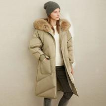 Winter Luxury Winter Fashion 90% Thick Quilted White Duck Down Jacket Elegant Ho