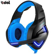 EDAL K1A Wired PC Gaming Headset for PS4 XBOX One 3.5mm Stereo LED Headphones wi - $43.34