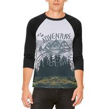Hiking Mountains So The Adventure Begins Mens Raglan T Shirt - $28.00+