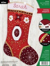 Bucilla Holiday Elegance Red Gold Elegant Christmas Felt Stocking Kit 89... - $39.95