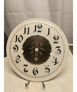 """Vintage Beautiful Round Clock Dial White & Antiques Brass 7 1/8"""" wide - $9.89"""