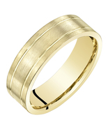 14K Yellow Gold 6mm Comfort Fit Wedding Band - $349.99