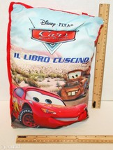 "Cars Pillow 13"" Soft Cloth Book Italian Language Motori Ruggenti Libro Cuscino - $9.88"