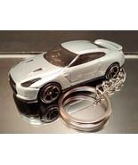 Silver 2009 Nissan GT-R Key Chain Ring - $14.24