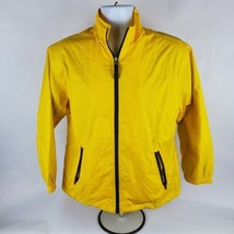 Gap Mens Windbreaker Sz XL Yellow Full Zip Lined Jacket Pockets - $33.85