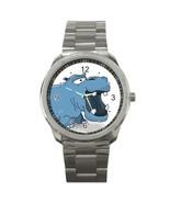 Men's Cute Cartoon Hippo Sport Metal Watch - $18.99