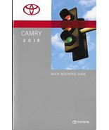 2018 Toyota CAMRY Quick Reference Guide manual book only US 18 - $7.50