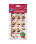 Santa with Present 12 Ct Royal Icing Candy Decorations Wilton - $9.89