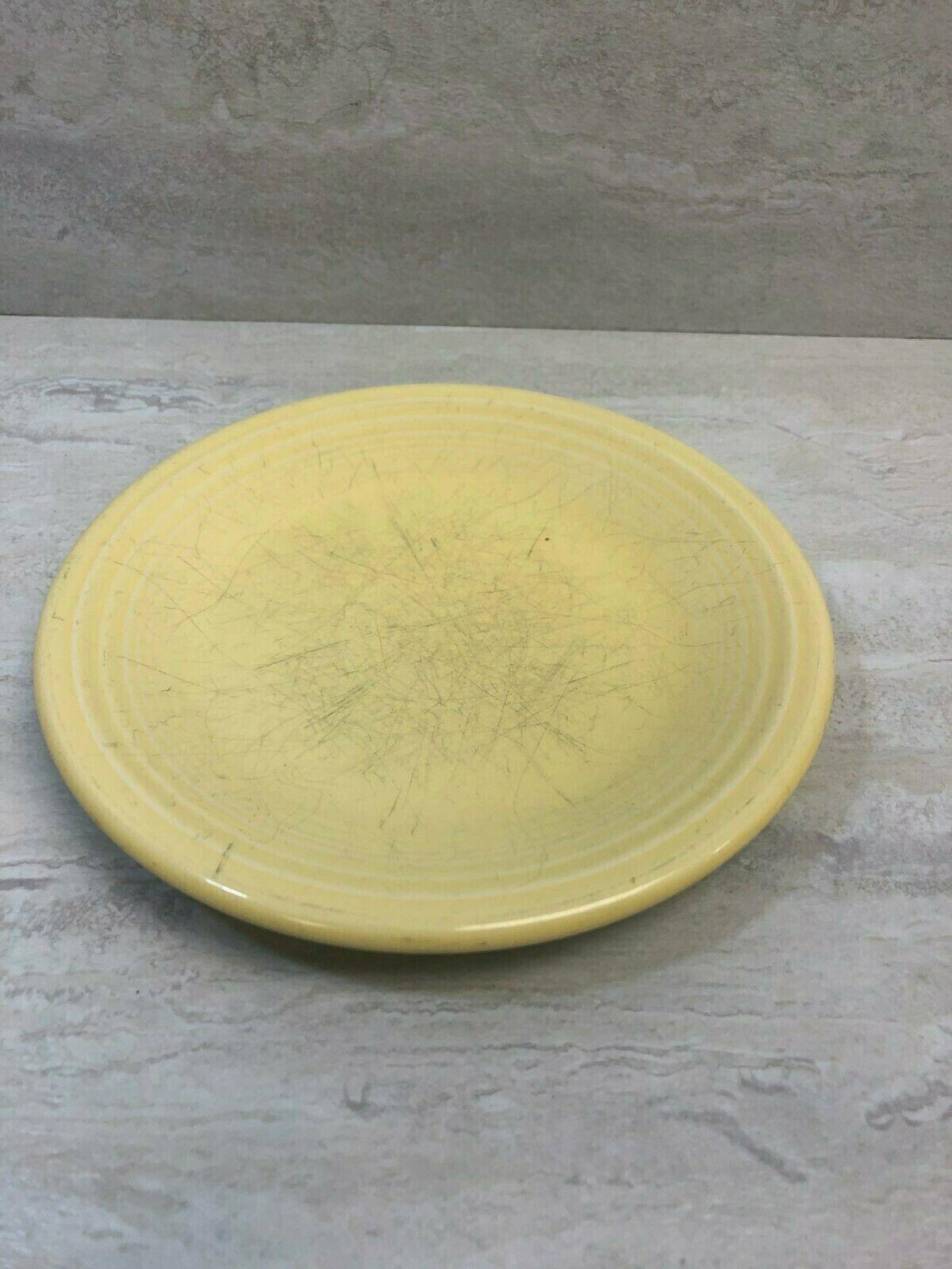 "Fiesta Homer Laughlin Sunflower Yellow 7.25"" Salad Plate, Small Sand Bump, USED - $18.55"