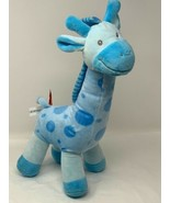"Gitzy Plush Blue Giraffe Polka Dot 16"" Soft Stuffed Animal Baby Toy - $14.36"