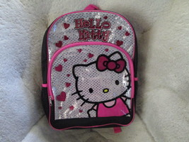 Hello Kitty Black and Pink Hearts Backpack Brand New - $12.50