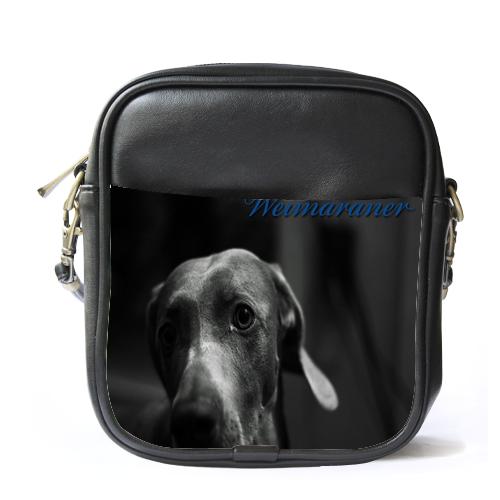 Sb1554 sling bag leather shoulder bag weimaraner