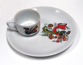 Berggren Originals Vintage Flower Paisley Nordic Design Lunch Plate mug ... - $16.82