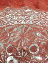 """Vintage Clear Pressed Glass Personal Ashtray Three Legs   3 1/4"""" image 2"""
