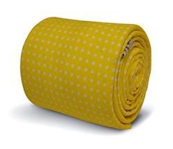 Frederick Thomas bright lemon yellow and white pin spot cotton men's tie