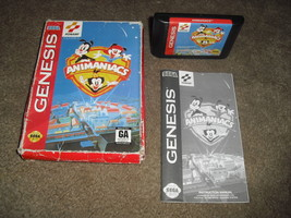 Animaniacs (Sega Genesis, 1994) Damaged BOX--Tested (NTSC/US/CA) - $10.39