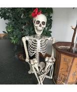 Life Size Skeleton Halloween Plastic Decoration Haunted Horror House Hum... - €115,36 EUR