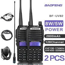 1 or 2 Sets UV82 VHF UHF Transceiver Walkie-talkie Two Way Radio Talkie ... - $76.25+