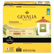 Gevalia Kaffe Colombia Coffee 18 to 90 Keurig K cup Pods Pick Any Size F... - $19.99+
