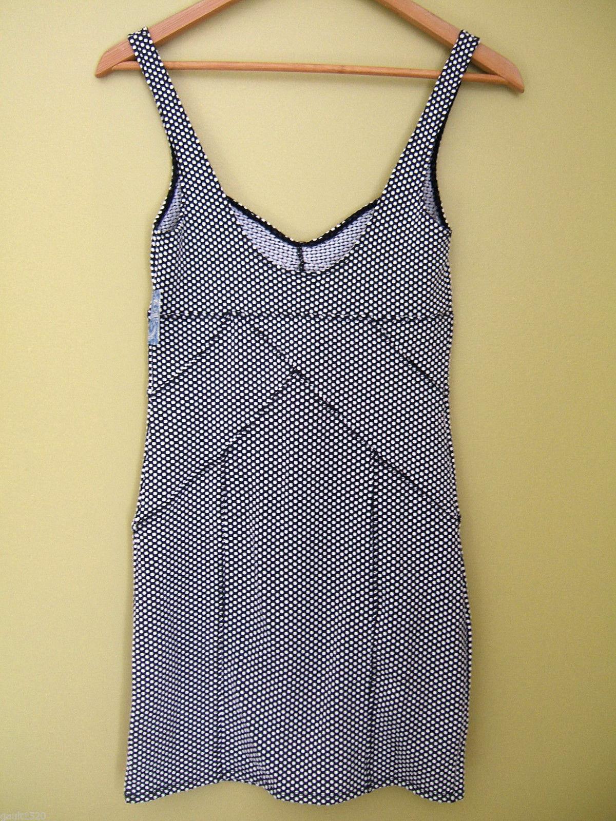 NWT Free People Intimately Sexy Black White Polka Dot BodyCon Sheath Dress S $98