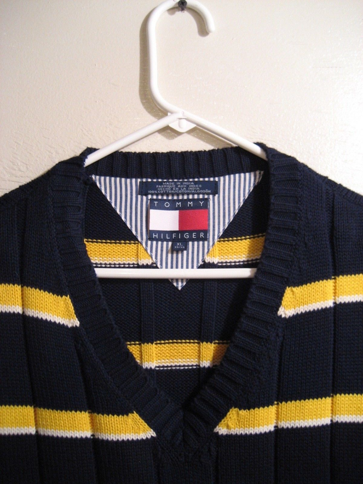 MENS TOMMY HILFIGER KNIT SWEATER VEST, SIZE XL 100% COTTON image 3