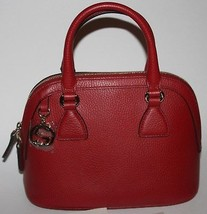 $895 NWT GUCCI GG CHARM  DOME RED LEATHER HANDBAG W/ SHOULDER CROSS BODY... - $524.70