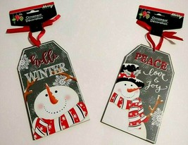 Christmas House Home Gift Tag Wall Ornaments Choose 1 From Two Different... - $6.00