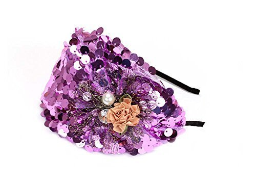 Elegant Headband Fashion Hairband Wide Headwrap Hair Accessories, Purple