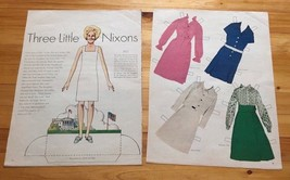 Paper Doll, First Lady Pat Nixon, Uncut with Clothes, 1970s, Inv0861 - $5.94