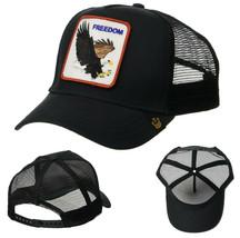 Goorin Bros Snapback Mesh Cap Black Freedom Eagle Patriotic Trucker Hat 101-0209 image 1
